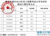 2015年安徽省肥西农商行招聘大学生村官面试名单公示