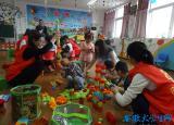 淮北市大学生村官看望市聋儿语训中心的听障孩子