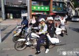 2017安徽高考首日考生家长车辆出故障 交警骑摩托送考