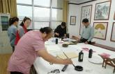 亳州中药科技学校书画名师与河南同行切磋技艺