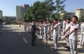 亳州中药科技学校校园秋点兵军训正当时