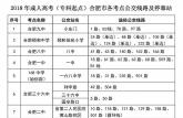 2018全国成人高考10月27日开考 合肥市区37个考点公交线路图公布