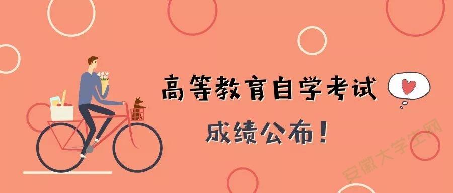 安徽省2018年10月高等教育自学考试成绩发布公告