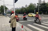 蚌埠学院教师志愿者参加文明交通志愿服务活动