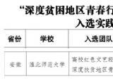 淮北师范大学音乐学院获批团中央2019年深度贫困地区青春行中央单位定点贫困县实践团队项目
