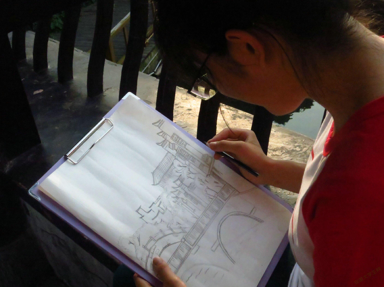 速写记忆,文创设计——安徽学子设计古镇明信片