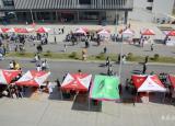 合肥师范学院学生社团在滨湖校区上演招新百团大战