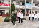 淮北卫校举行国旗班交接暨升旗仪式