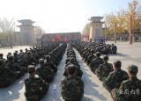 宿州应用技术学校国防后备班举行冬季徒步拉练强素质
