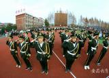 亳州工业学校国旗班提升新形象打造新名片