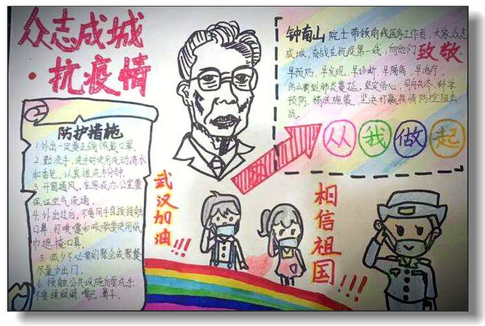 亳州工業學校學子繪戰疫手抄報 厚植家國情懷 肩負使命擔當