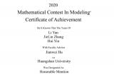 黄山学院学子荣获2020年美国大学生数学建模竞赛国际二等奖
