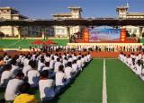 亳州中药科技学校4000余新生接受入学军训教育