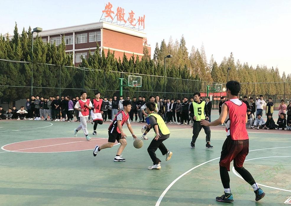 亳州工业学校特色专业第三届篮球友谊赛展现民航城铁魅力
