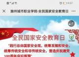 国家安全人人有责滁州城市职业学院扎实开展国家安全日系列教育活动