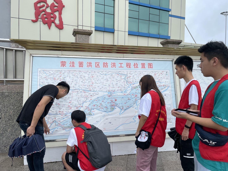 """安徽工程大学学子""""三下乡""""社会实践活动:走进王家坝,了解蓄洪区"""