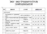 共36项!教育部公布中小学全国性竞赛活动名单