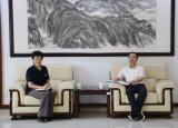皖西学院党委书记袁维海与六安市政协副主席张秀萍一行交流座谈