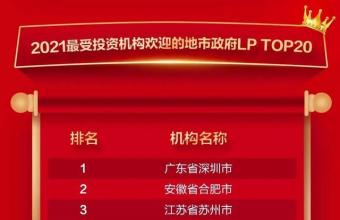 2021最受投資機構歡迎的合伙人!深圳第一,合肥第二!